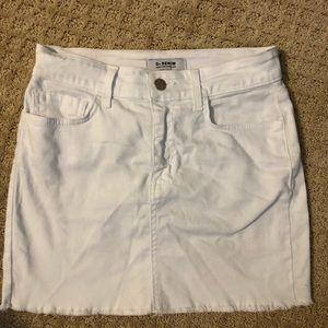 O2 denim white skirt